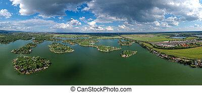 Small green island