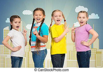 small group of girls