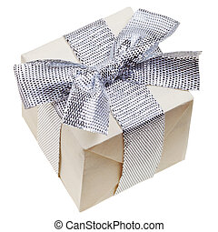 gift box with silver bow