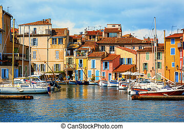 Small harbour in Martigues city, Provence, France