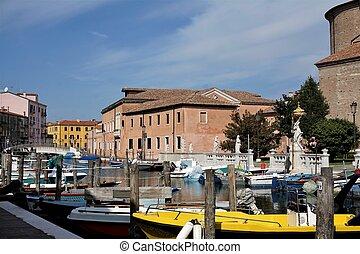 Small harbour in the city of Chioggia