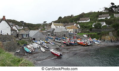 small harbour of cadwith in englan
