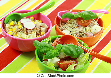 Small healthy salads