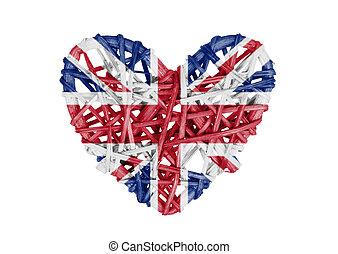 Small heart isolated - United Kingdom