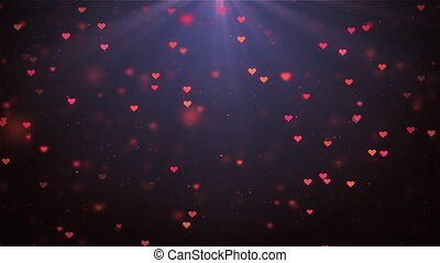 Small hearts for Valentines Day, Mothers Day or wedding events background