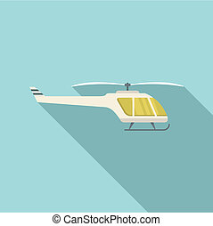 Small helicopter icon, flat style