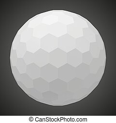 small hexagons forming a sphere. 3d style vector illustration.
