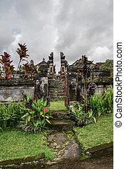 Small Hindu temple in Tabanan, Bali, Indonesia.