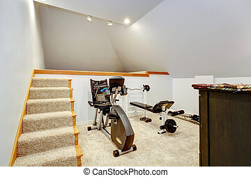 Small home gym area