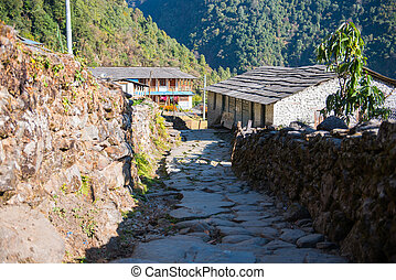small home on the way to Annapurna base camp