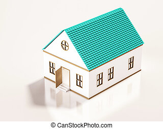 Small house, 3d rendered