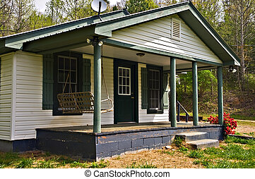 Small House Front Porch - Front porch area of a small...