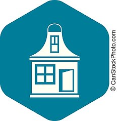 Small house icon, simple style