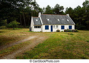 Small house in the forest in Brittany