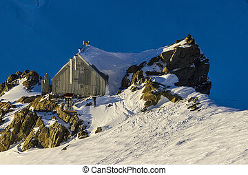 Small house in the mountains. New Zealand