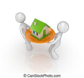 Small house on a dish.
