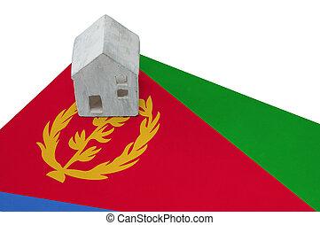 Small house on a flag - Eritrea