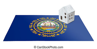Small house on a flag - New Hampshire