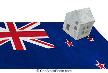 Small house on a flag - New Zealand