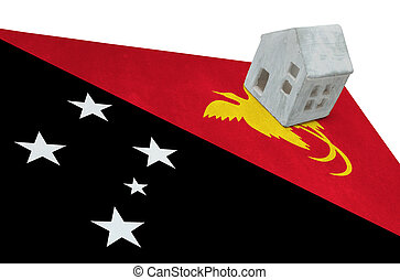 Small house on a flag - Papua New Guinea