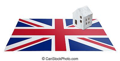 Small house on a flag - United Kingdom