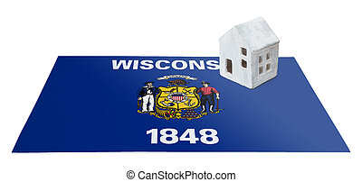 Small house on a flag - Wisconsin