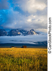 Small house with a view of the Teton range