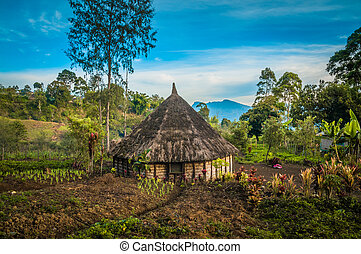 Small house with garden - Photo of simple village house and ...