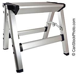 Aluminum Step Stool Ladder - Small Household Aluminum Step...