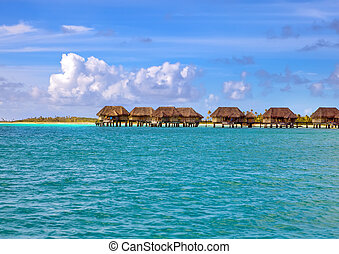 small houses on water