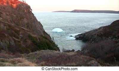 Small Iceberg on coast line of Newf