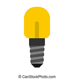 Small incandescent lamp icon, flat style