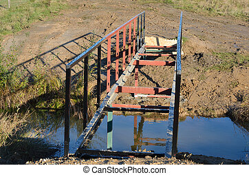small incompete footbridge