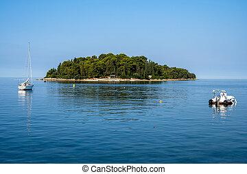 Small island at the croatian coast