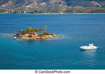 Small island in Aegean sea