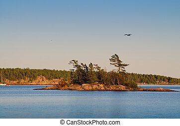 Small island in Georgian Bay
