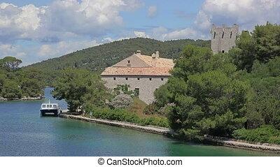 Small island in national park Mljet, Croatia