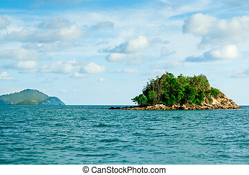 Small island in the middle of the sea
