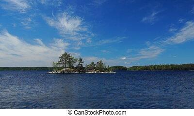 Small island on Finish lake