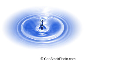 Small Isolated Blue Water Splash