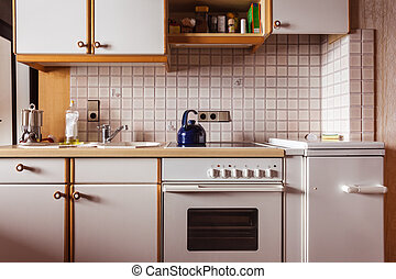 Small kitchen - interior of an old simple kitchen that ...