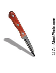 Small Kitchen Knife - New sharp small kitchen knife isolated...