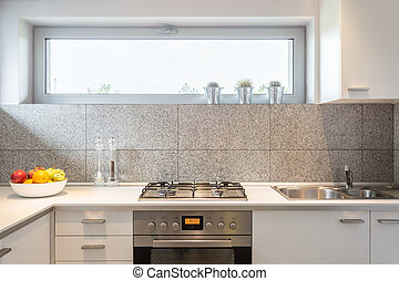 Small kitchen with window