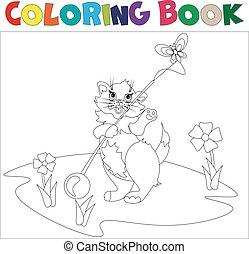 Small kitten coloring book