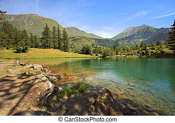 Small lake in Alps.