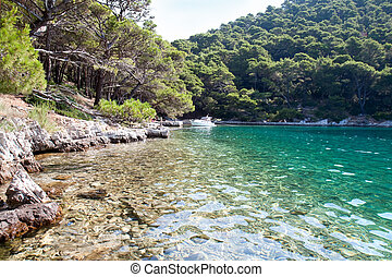 Small lake in national park on Mljet Island