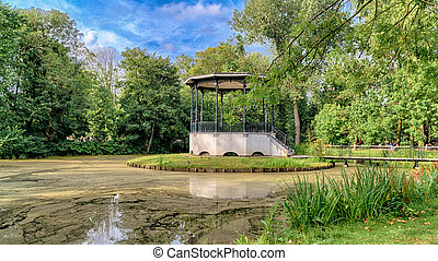 Small lake in Vondelpark, Amsterdam.