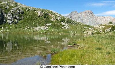 Small lake on the Italian alps