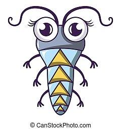 Small larva icon, cartoon style - Small larva icon. Cartoon ...