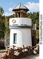 lighthouse for childs play in park